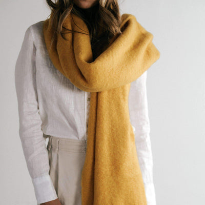 GIGI PIP Hats for Women- Blanket Scarf - Yellow-Scarf