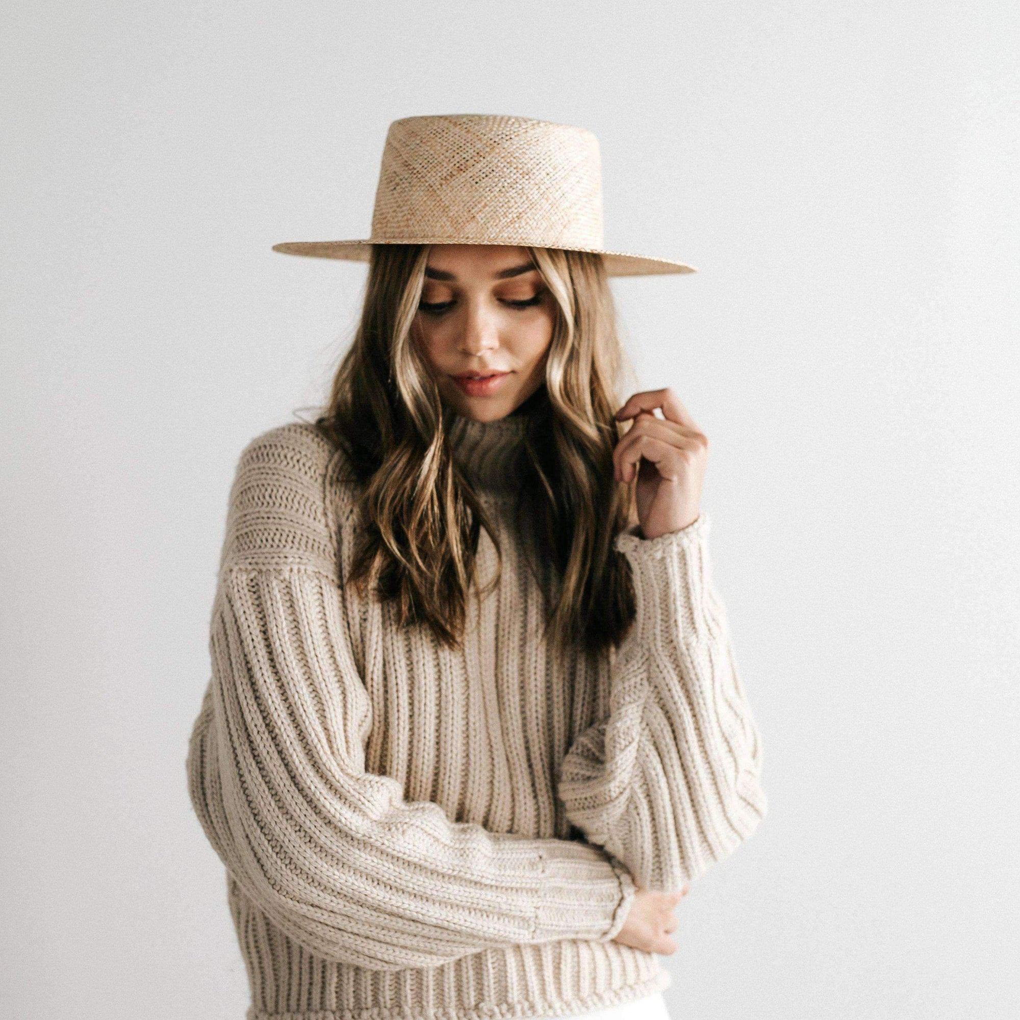 GIGI PIP Hats for Women- Brae Straw Boater-Straw Hats
