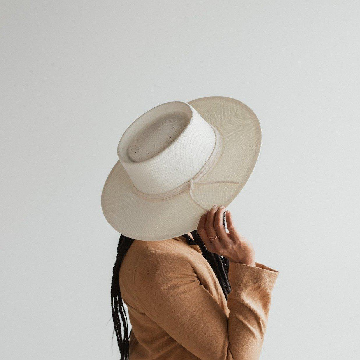 GIGI PIP Hats for Women- Bre Straw Pork Pie - Ivory-Straw Hats