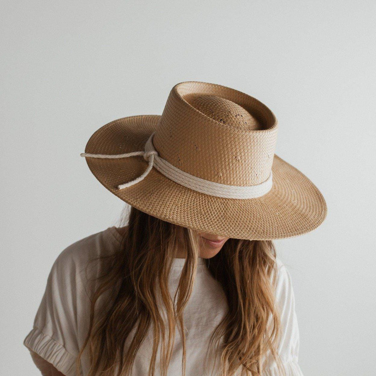 GIGI PIP Hats for Women- Bre Straw Pork Pie - Natural-Straw Hats