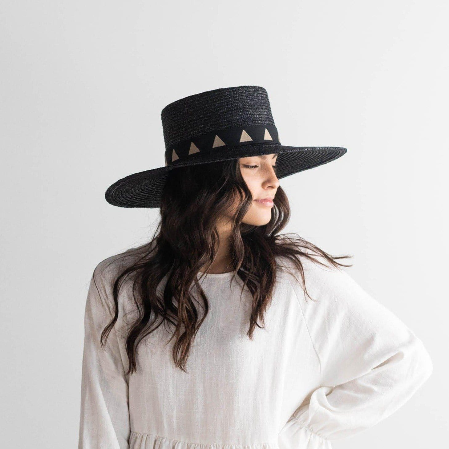 GIGI PIP Hats for Women- Corey Medium - Black-Straw Hats