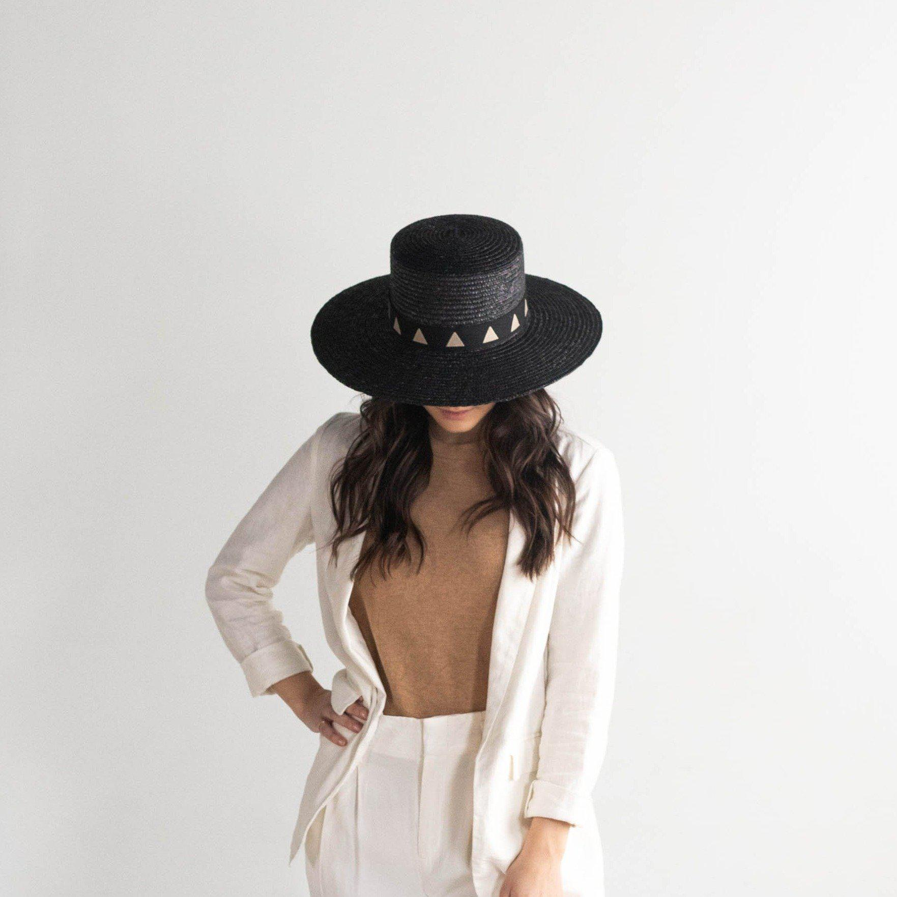 GIGI PIP Hats for Women- Corey Short - Black-Straw Hats