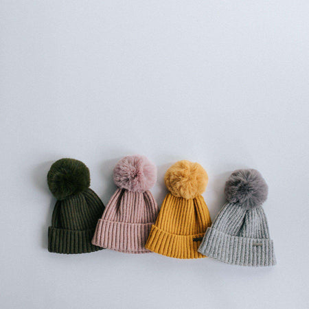 Samantha - Pink Fleece Lined Beanie