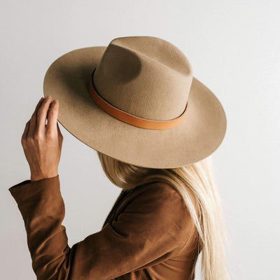 GIGI PIP Hats for Women- Emma Wide Brim Fedora-Felt Hats