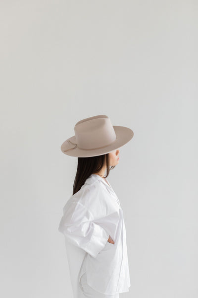 GIGI PIP Hats for Women- Ezra Western Hat - Ivory-Felt Hats