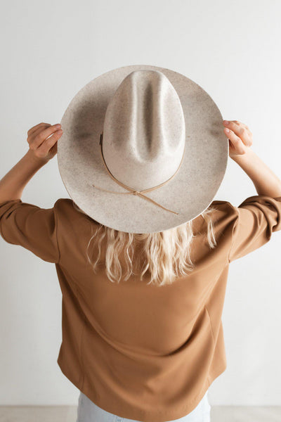 GIGI PIP Hats for Women- Ezra Western Hat - Mix Grey-Felt Hats