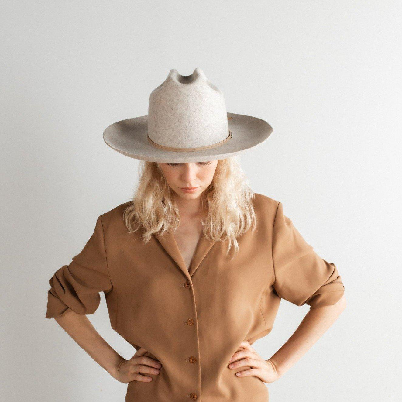 Ezra Western Hat - Mix Grey