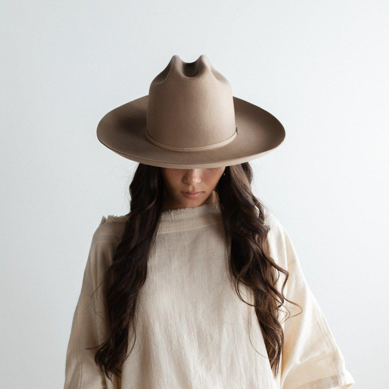 GIGI PIP Hats for Women- Ezra Western Hat - Tan-Felt Hats