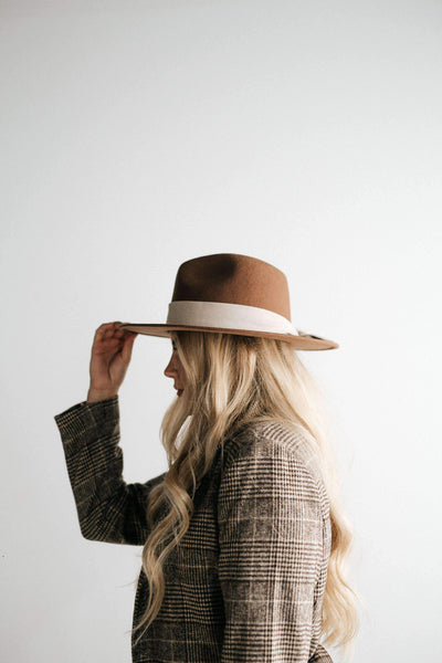 GIGI PIP Hats for Women- Fabric Band - Grid Pattern-Bands
