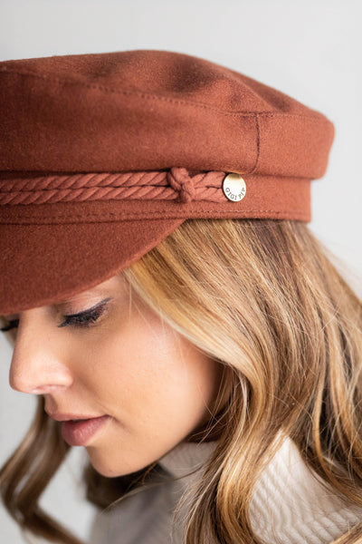 GIGI PIP Hats for Women- Fisherman Cap - Chocolate Brown-Women's Cap