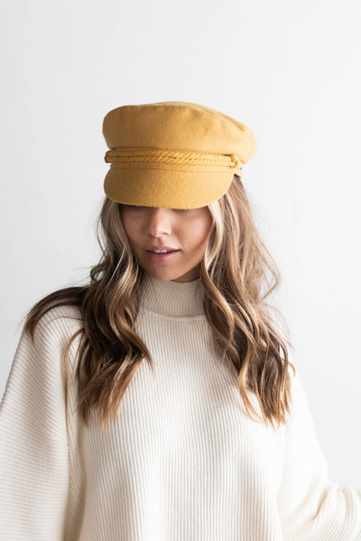 GIGI PIP Hats for Women- Fisherman Cap - Mustard-Women's Cap