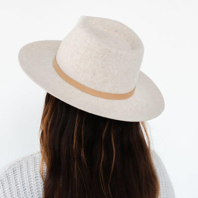 GIGI PIP Hats for Women- Genuine Leather Thin Band - Nude-Bands