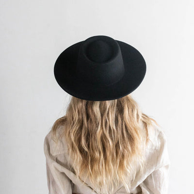 GIGI PIP Hats for Women- Ginger Gambler - Black-Felt Hats