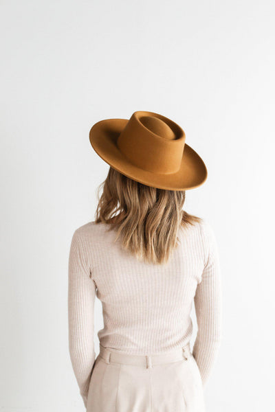 GIGI PIP Hats for Women- Ginger Gambler - Cinnamon-Felt Hats
