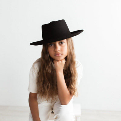GIGI PIP Hats for Women- Ginger Kids Gambler - Black-Felt Hats