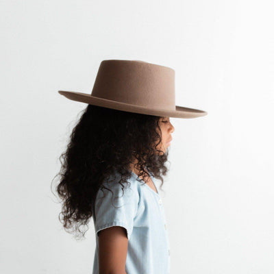 GIGI PIP Hats for Women- Ginger Kids Gambler - Taupe-Felt Hats