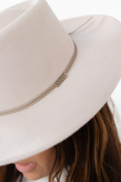 GIGI PIP Hats for Women- Grosgrain Band - Taupe-Bands