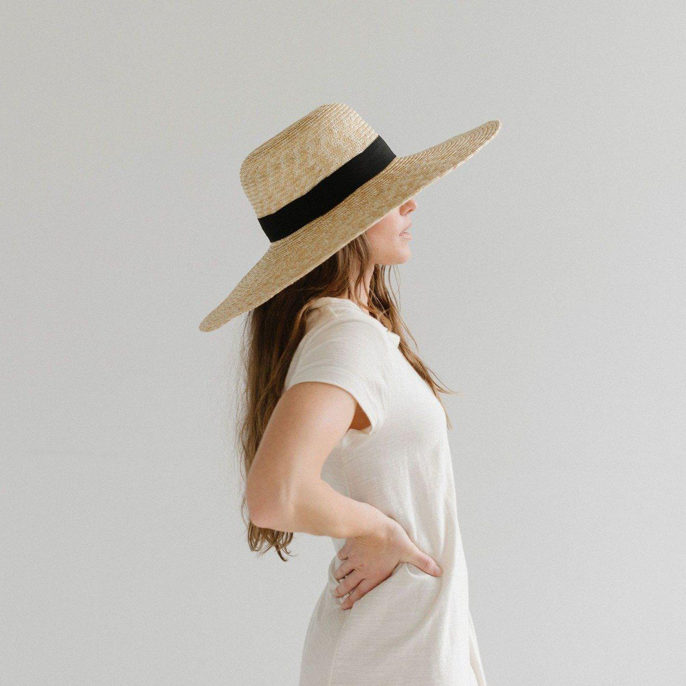 GIGI PIP Hats for Women- Gwen Wide Brim Sun Hat-Straw Hats