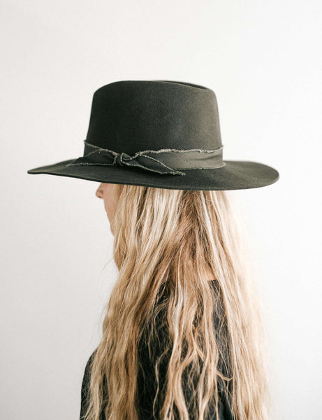 GIGI PIP Hats for Women- Hannah Forest Green - Floppy Fedora-Felt Hats