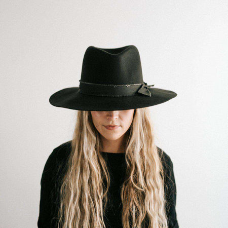 Bre Ivory - Stiff Straw Pork Pie Hat