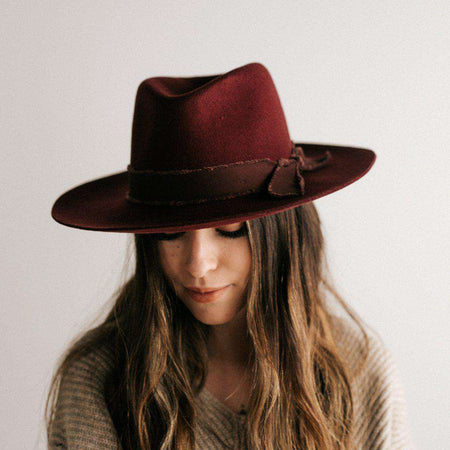 Dahlia Brown - Women's Boater Hat