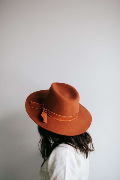 GIGI PIP Hats for Women- Hannah Rust - Floppy Fedora-Felt Hats