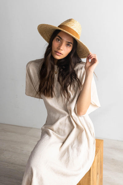 GIGI PIP Hats for Women- Isla Straw Fedora - Natural-Straw Hats