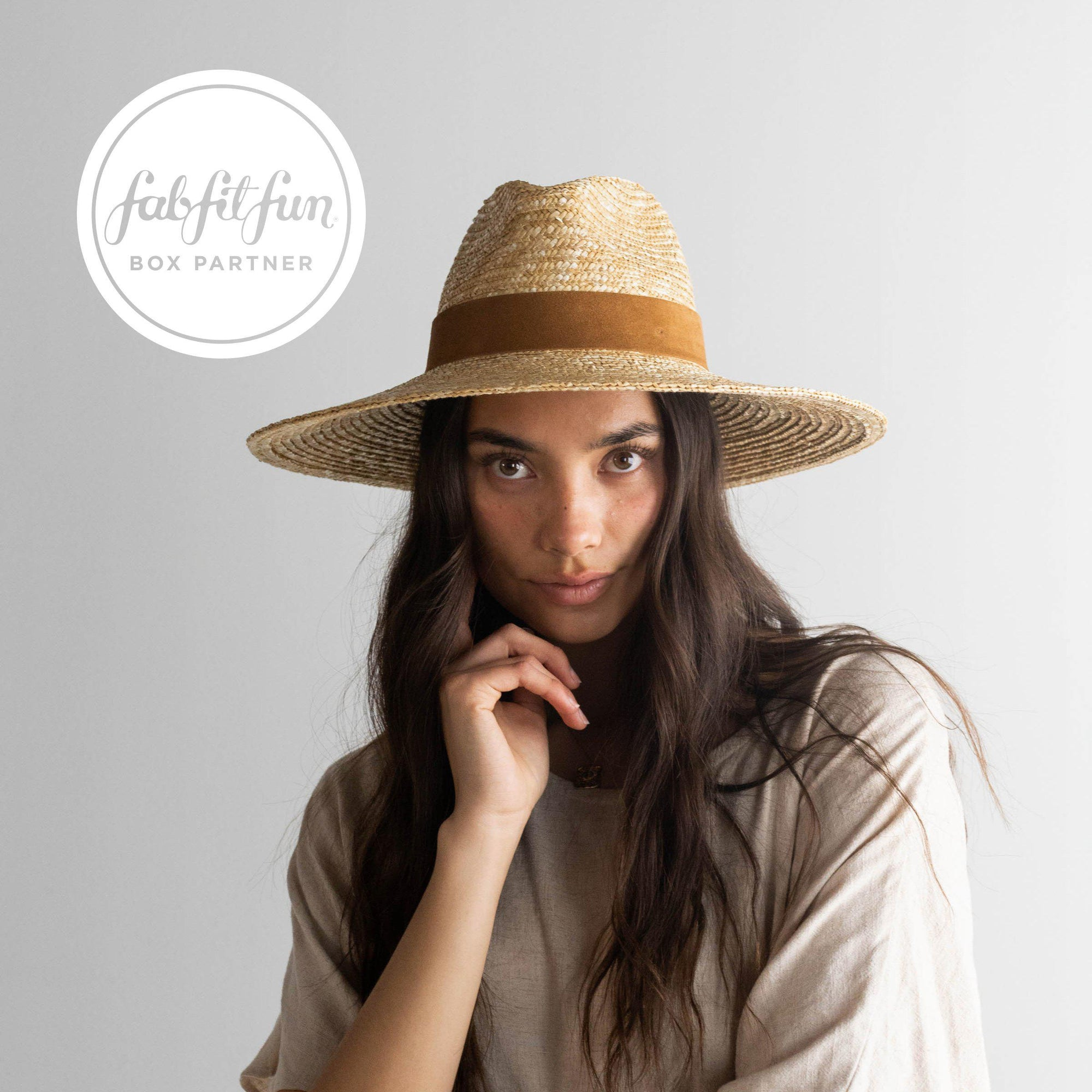Isla Straw Fedora - Natural
