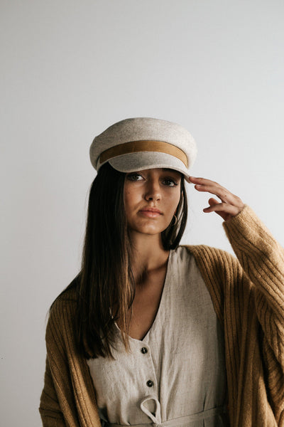 GIGI PIP Hats for Women- James - Felt Cap with Genuine Leather Band-Women's Cap