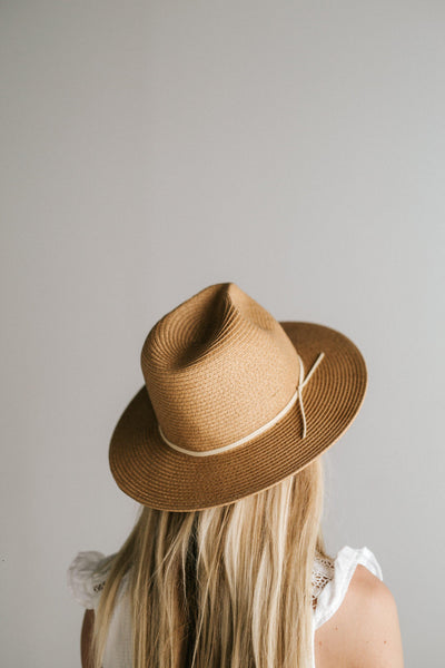GIGI PIP Hats for Women- Jani Straw Fedora - Natural-Straw Hats