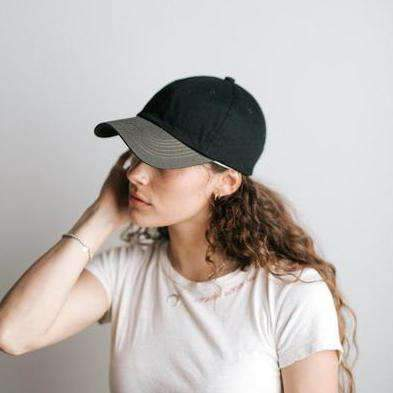 GIGI PIP Hats for Women- Jojo Ballcap - Black and Grey-Baseball Hat