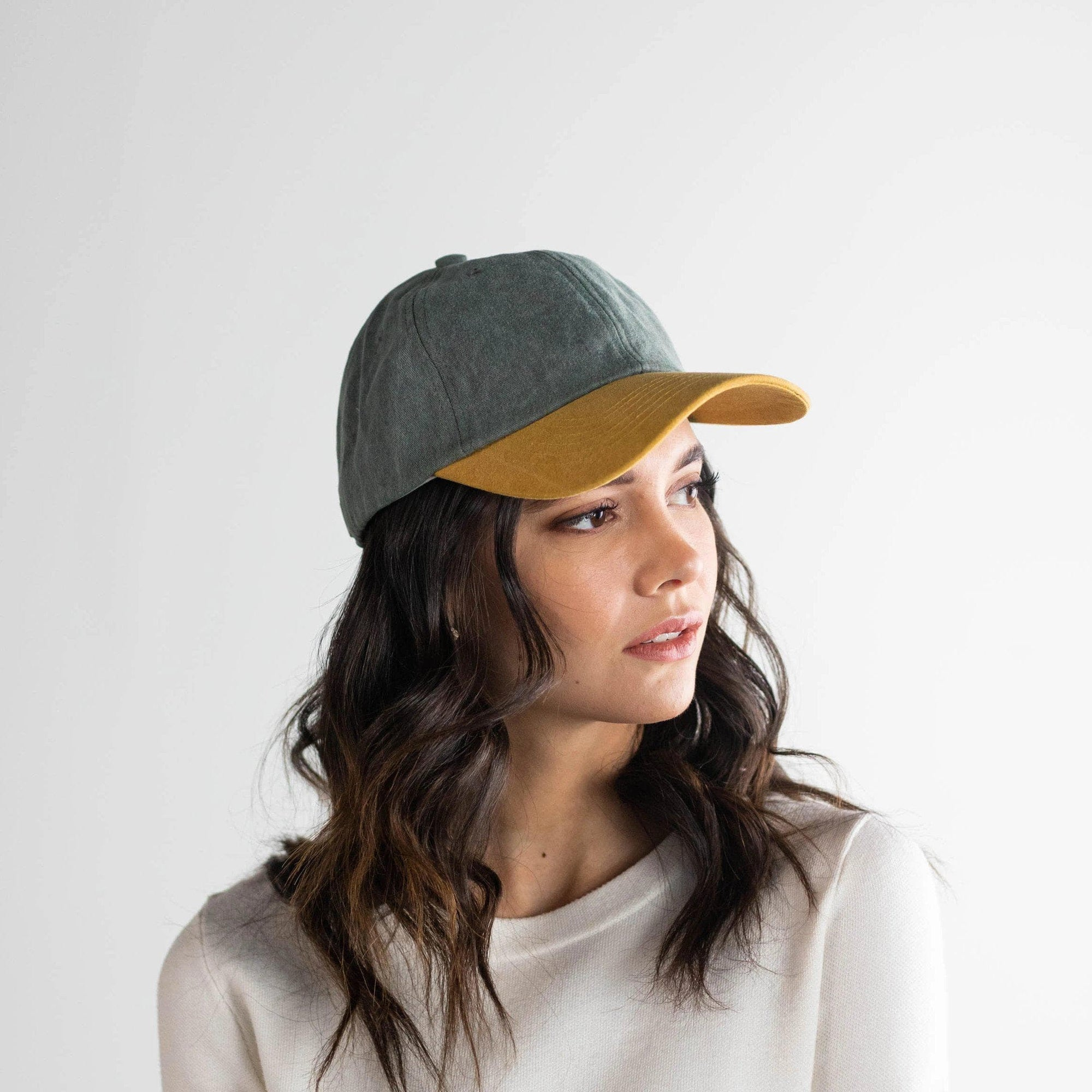 GIGI PIP Hats for Women- Jojo Ballcap - Green and Caramel-Baseball Hat