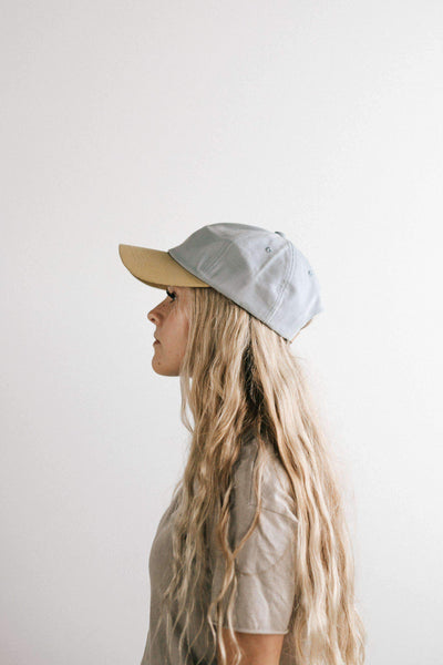 GIGI PIP Hats for Women- Jojo Ballcap - Light Blue and Tan-Baseball Hat