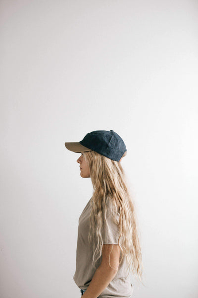GIGI PIP Hats for Women- Jojo Ballcap - Navy and Tan-Baseball Hat