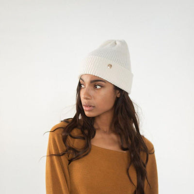 GIGI PIP Hats for Women- Ky Thick Knit Beanie - Ivory-Beanie