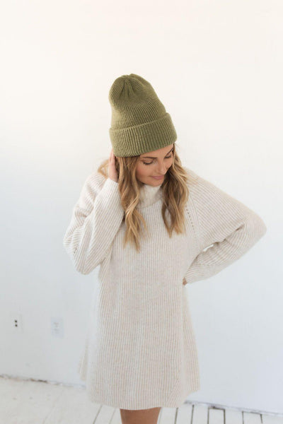 GIGI PIP Hats for Women- Ky Thick Knit Beanie - Sage-Beanie