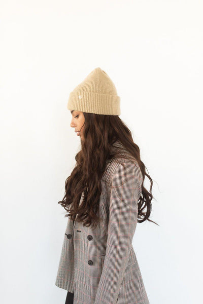 GIGI PIP Hats for Women- Ky Thick Knit Beanie - Tan-Beanie