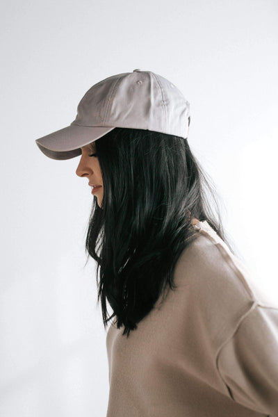 GIGI PIP Hats for Women- Laci Ballcap - Light Grey-Baseball Hat