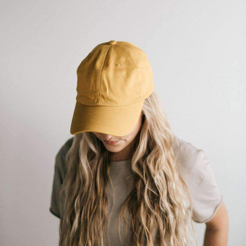 GIGI PIP Hats for Women- Laci Ballcap - Mustard-Baseball Hat