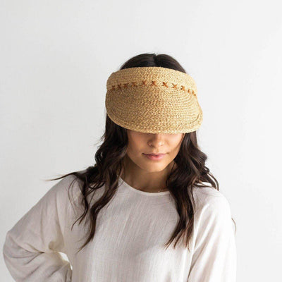GIGI PIP Hats for Women- Laila Raffia Visor-Straw Hats