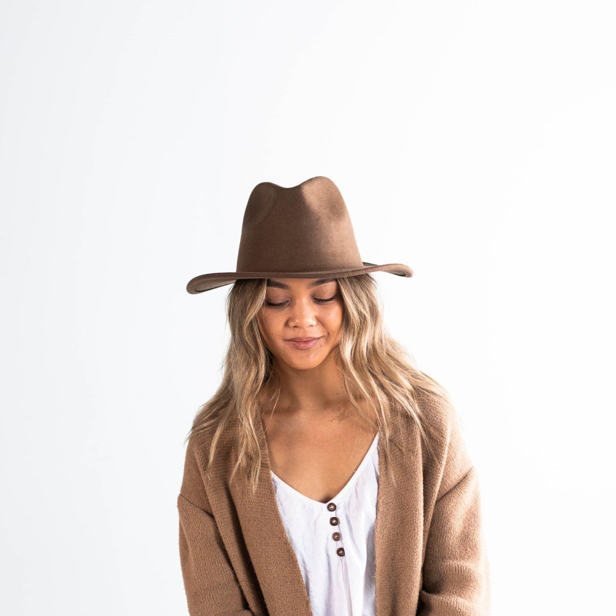 Leo Wavy Fedora - Brown
