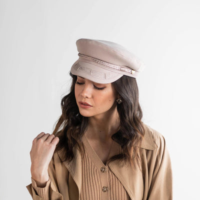 GIGI PIP Hats for Women- Lieutenant Cap - Ivory-Women's Cap