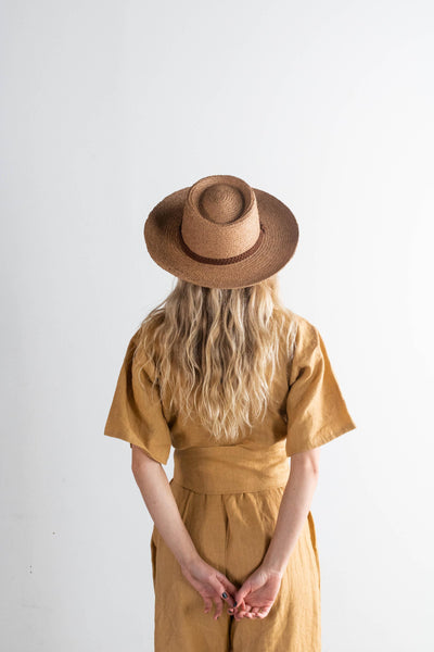 GIGI PIP Hats for Women- Luna Straw Gambler Hat-Straw Hats