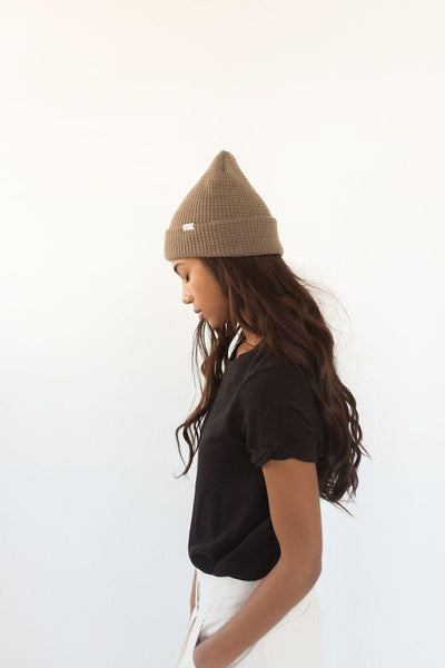 GIGI PIP Hats for Women- Marsh Waffle Knit Beanie - Smoke-Beanie