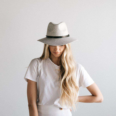 Harvey Navy - Panama Floppy Fedora