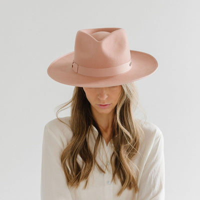 GIGI PIP Hats for Women- Monroe Rancher - Dusty Pink-Felt Hats
