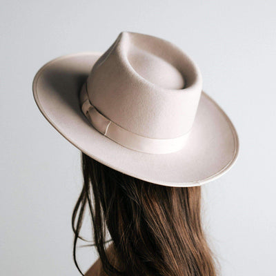 GIGI PIP Hats for Women- Monroe Rancher - Ivory-Felt Hats