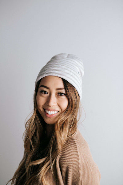 GIGI PIP Hats for Women- Pip Striped Beanie-Beanie