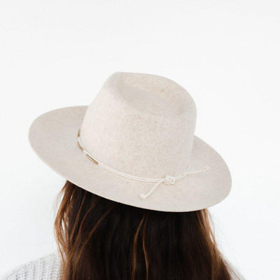 GIGI PIP Hats for Women- Rope Band with Beads - Cream + Brass-Bands
