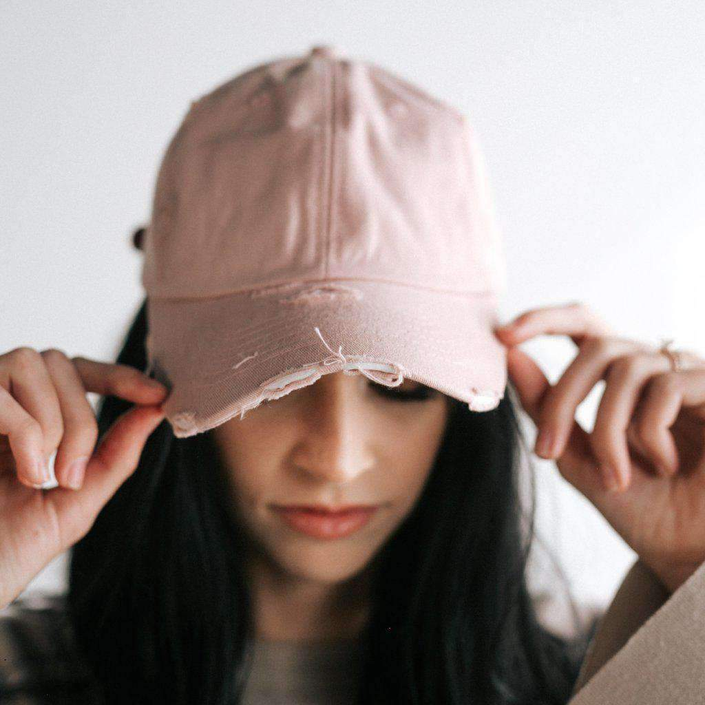 GIGI PIP Hats for Women- Roxy Ballcap - Blush-Baseball Hat